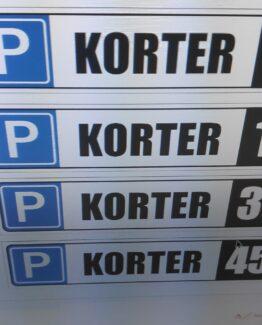 korteri parkimiskoha tähis